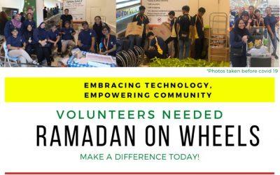 Volunteers needed for Ramadan On Wheels (Drivers / Riders)