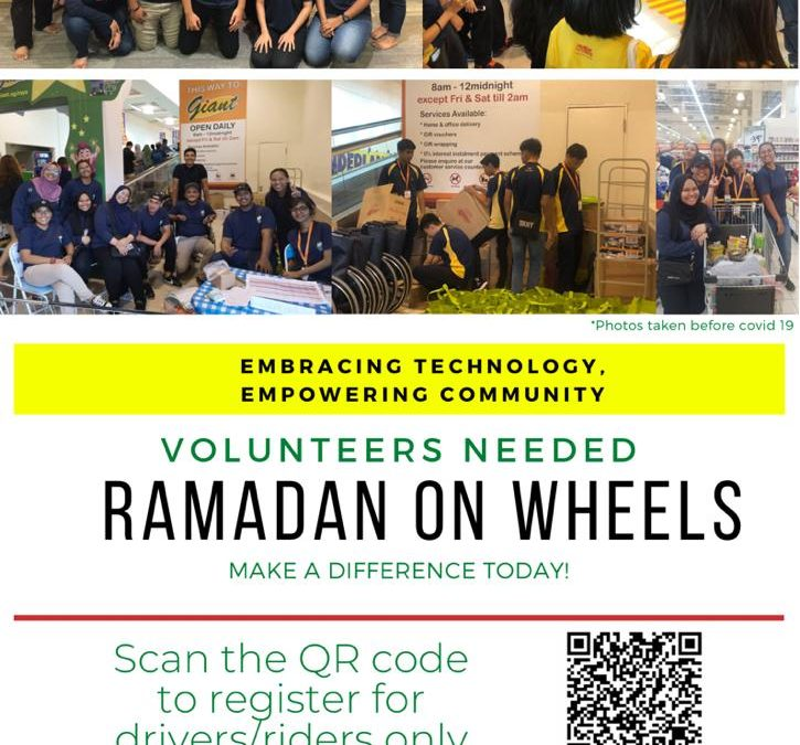 Volunteers needed for Ramadan On Wheels (Drivers / Riders)